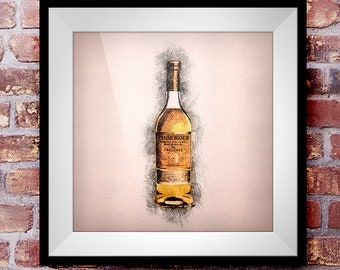 Glenmorangie Original - Crosshatch Whisky Wall Art