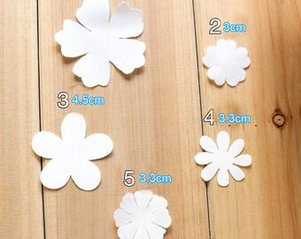400-600pcs 3-5.5cm wide ivory bridal wedding dress lace petal appliques patches 3hr2t free ship
