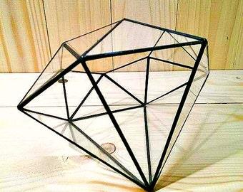 Geometrische Glasterrarium Terrarium, Glas Diamant Stainedglass