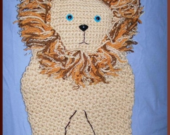 Crochet Lion Bag or Christmas Stocking