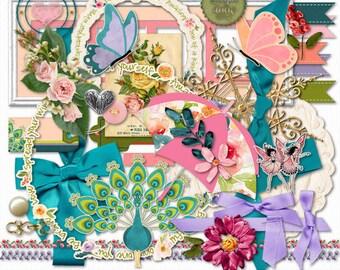 Beautiful Spring Digital Scrappbook & Clipart Images