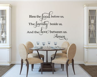 kitchen wall stickers bless the food before us wall stickers kitchen decor wall - Kitchen Wall Decor