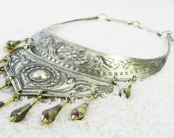 Golden Nomad necklace Ethnic Tribal Miao Hmong Statement Jewelry