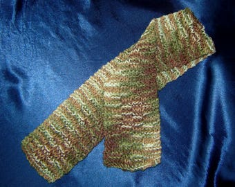 Hand Knit Boys or Girls Scarf in Camouflage - Childs Scarf - Kids Scarf - Toddlers Scarf - Childrens Scarves