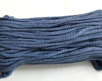 cotton yarn 5mm cotton rope zpaghetti yarn knitting basket rug macrame