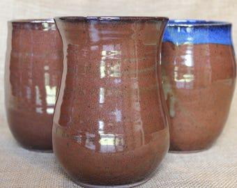 Simple and sleek handmade pottery vase, wheel thrown vase