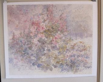 Reduced! Watercolor Print, Poster, Print, Large Print, Pink flowers print, Dalina Darton Print