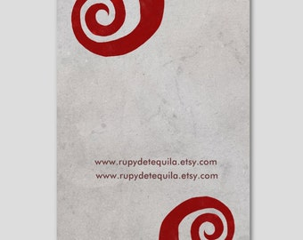 100 business cards  - Your information - Swirls