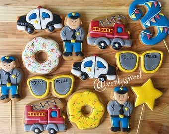 Gingerbread Cookies for police