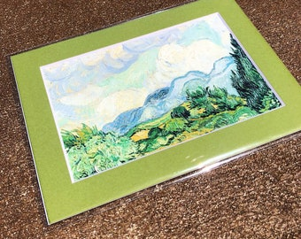 VanGogh - Wheat Field with Cypress - 4x6 art print