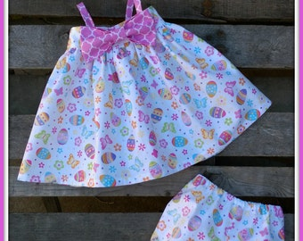 Infant Easter Dress With Bloomers
