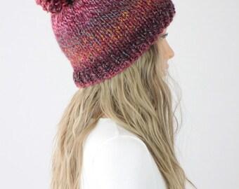 Hat PATTERN - Tahoe Pom-pom Hat Pattern #28 - Knit Hat Pattern - Knitting Cap PATTERN - Digital Download - Not a Physical Hat!