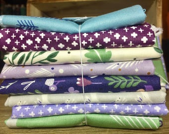 Forest Talk Fat Quarter Bundle ~ Kathy Nordstrom for Andover Fabric ~ Forest Animals