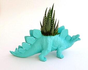 Stegosaurus Dinosaur Planter + Succulent \\ Succulent Planter \\ Home Decor \\ Gift \\ Office Decor \\ Desk Plant