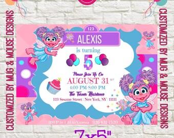 Abby Cadabby Sesame Street Party, Birthday Party Invitation Printable, Abby Cadabby Birthday Personalized