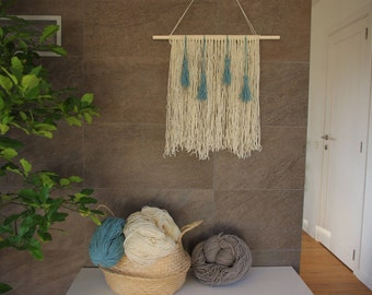 Wool wall hanging * Wall Tapestry * Wall Hanging * Wall Decor * Wool Hanging * Wool Handmade * Wool Decor * Wool Decorations * Hygge Decor
