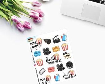 CINEMA/MOVIE NIGHT ~ Planner Stickers ~ CAM00366