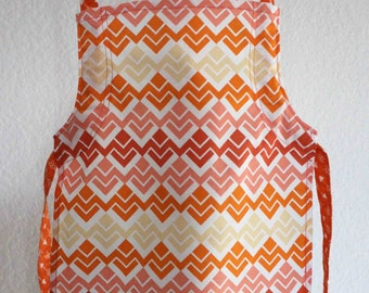 Yellow and Orange Patterned Adjustable Children's Apron