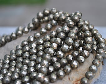 Faceted Iron Pyrite Balls