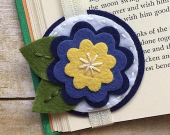 Felt Flower Bookmark, Felt Bookmark, Bookmark, Teacher Gift