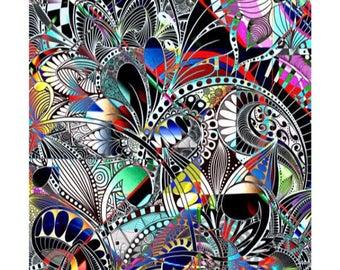 Colorful doodle/zentangle art