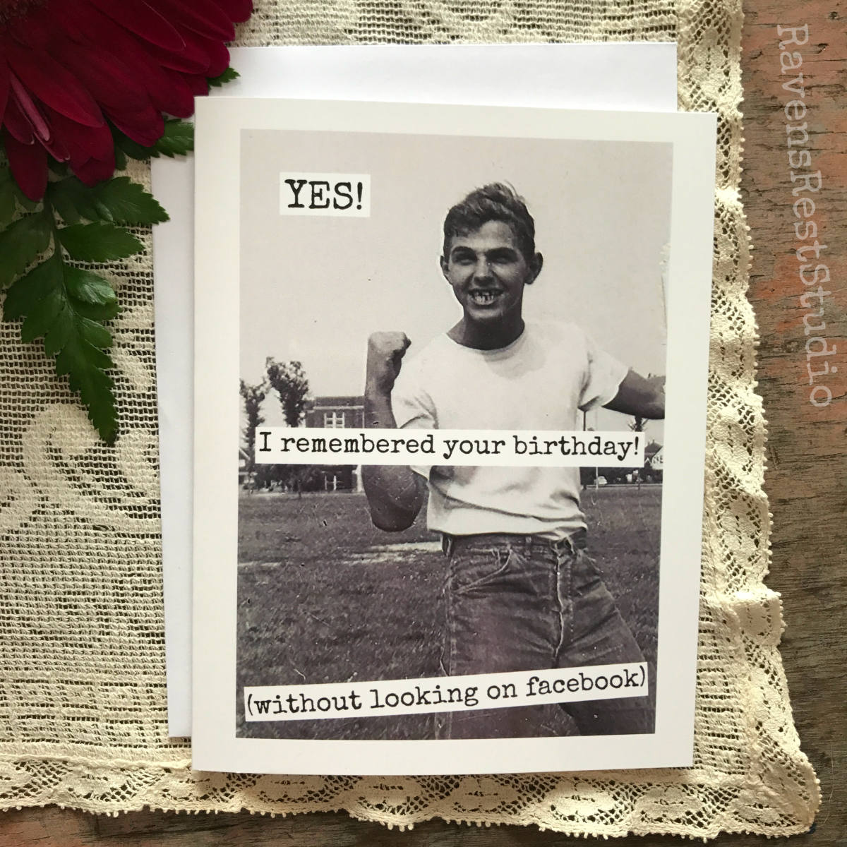 Funny Birthday Card Men Man Card Funny Quote Vintage