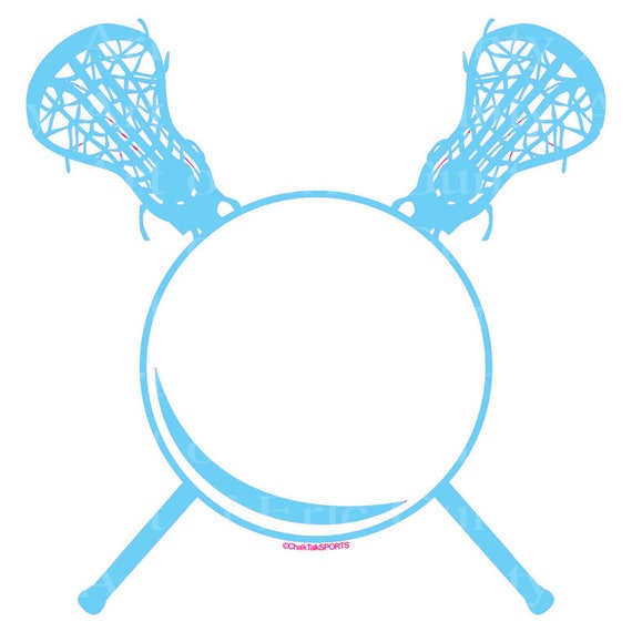 Light Blue LaCrosse Birthday - Edible Cake and Cupcake Topper For Birthday's and Parties! - D22947