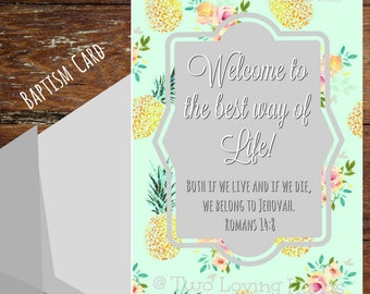 Welcome to the Best Way of Life, jw cards, jw gifts, baptism cards, Jehovah's Witness