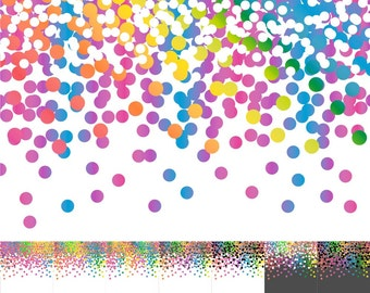 Confetti Paper, Confetti Scrapbook Paper, Digital Confetti, Digital Confetti Paper, Rainbow, Bright