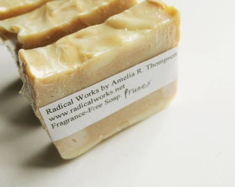 Prune Soap - Fragrance Free Unscented Soap - Natural Handmade Cold Process Lard Olive Oil - Easter Gift