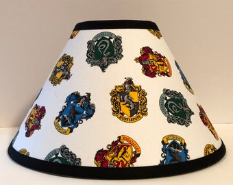 Harry Potter Hogwarts House Crests Fabric Children's Lamp Shade