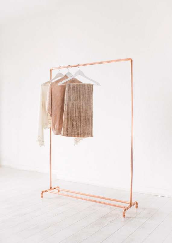 copper listing pipe il clothes storage cloth garment rail clothing rack