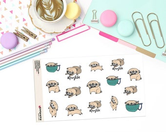 DOODLE PUG LIFE Paper Planner Stickers! - DOOD138