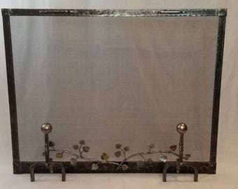 Forged Iron Screen with Aspen Branch Detail