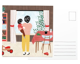 Illustration postcard - Happy home