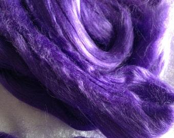 Bamboo Purple 2oz Top Spinning Fiber Dyed Luxury Fiber