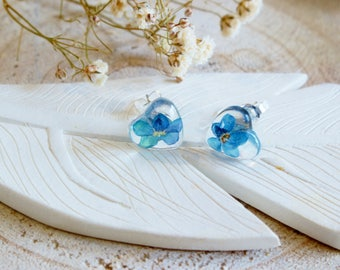 Forget me not Earrings, Real Flower Earrings, Something Blue, Flower Jewellery, Mothers Day Gift, Wishes on the Wind