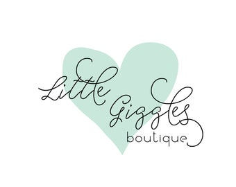Premade Logo Calligraphy Logo Small Boutique - Photography Logo and Watermark Design - Business Branding - Heart