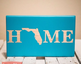 Home State Sign - New Home Sign - New Home Housewarming Gift - Personalized Christmas Gift - New Home Decor - New Home Gifts