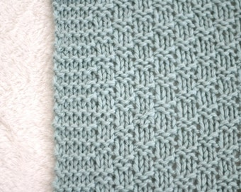 KNITTING PATTERN, Knit Baby Blanket Pattern, Knit Afghan Pattern, Baby Blanket, Knit Throw Pattern, Knitted Baby Blanket, Afghan Pattern,