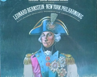 Leonard Bernstein conducts Haydn's Lord Nelson Mass, 1978 Vintage Vinyl Record. Terrific LP, pristine condition, great classical music gift!