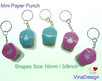 Mini Craft Punch Thumb Up Paper Punch Heart Paper Punch Cute Paper Punch SnowFlake Paper Punch Fish Punch Batman Paper Punch Key Chain Charm
