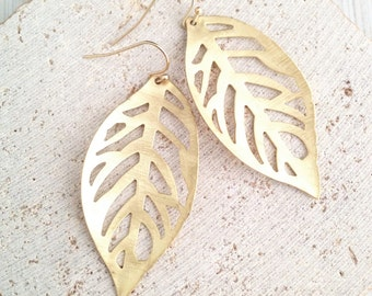 Leaf Earring,Gold Leaf Earring,Leaf Dangle Earring,Boho Earring,Gold Leaf Dangle Earring,Simple Leaf Earring,Wedding Earring,Bridal Earring