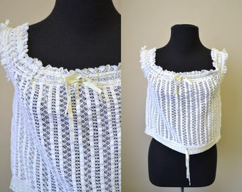 Victorian Insertion Lace Corset Cover
