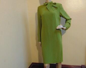 Green Bow Tie Dress