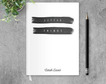 Little Things Notebook Journal Inspiration Quote, Inspirational Quotes for Mens Journal Personalized for Him, Thoughts Journal for Him