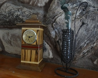 Mantle Clock / Keepsake Urn - Use as Cremation Urn for Portion of Human Ashes - Mini Mantle Clock with Memory Keepsake Storage