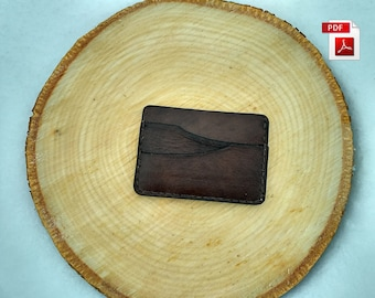 Card holder pattern Leather pattern mini wallet pattern Leather cardholder