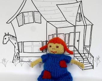 Knitting Pattern Pippi Longstocking Doll