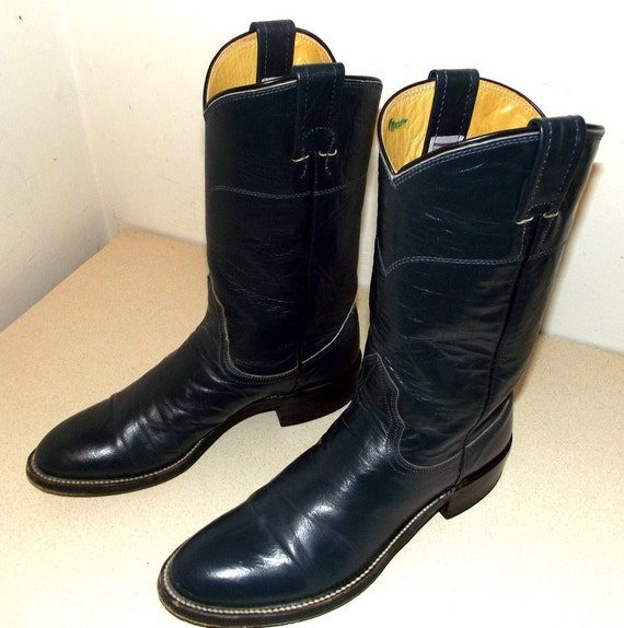 Dark in a by 5 Leather Roper A style Blue 5 size Nocona boots Wildflower cowboy cowgirl zrvzw04